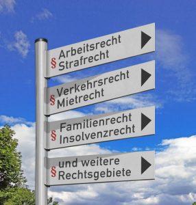 Rechtsgebiete der Anwaltskanzlei Thulke-Rinne